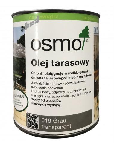 OSMO 019 Olej do tarasów SZARY  0.75Ll