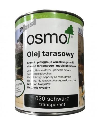 OSMO 020 Olej do tarasów CZARNY 0,75 l